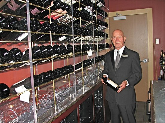Ciera Steak & Chophouse: Maitre de Tommy Walker in the wine room.