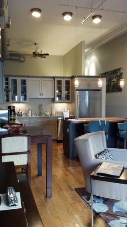 The Restoration: Living Area & Kitchen