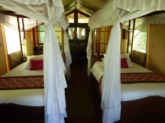 Samburu Intrepids Luxury Tented Camp: canopy beds with mosquito nets
