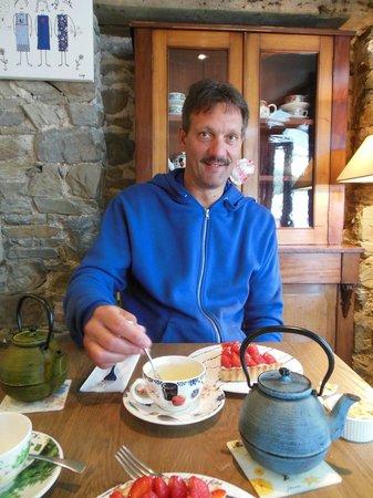 Picorette: Tarte aux fraises et thé