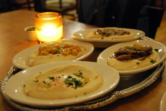 Hummus Place : Plato variado de Hummus