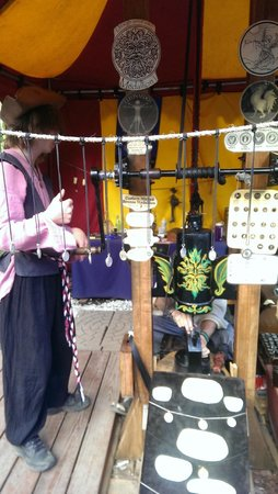 New York Renaissance Faire, Tuxedo Park, NY: Make your own coins