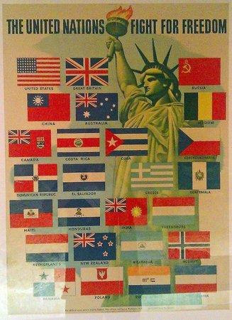 Musée d'Histoire de la Ville: UN Flags