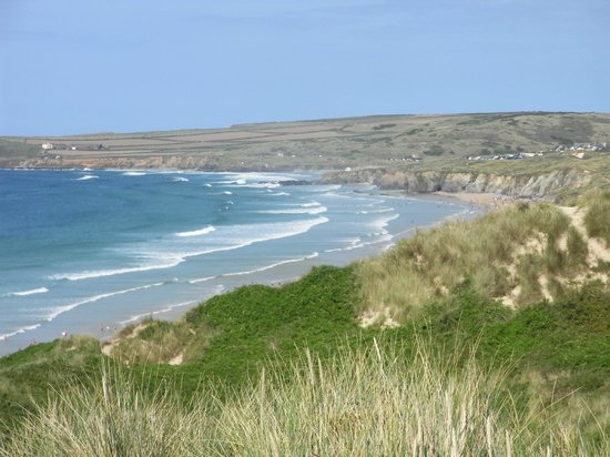 St Ives Bay Holiday Park: view from sand dune