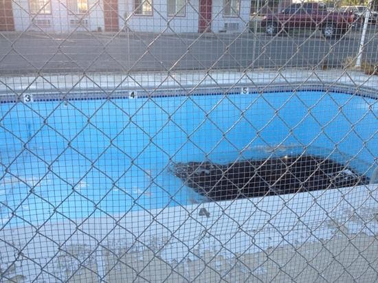 Sundowner Motel : yes, that is 4-5 inches if sludge in the pool - it's 100 degrees here right now
