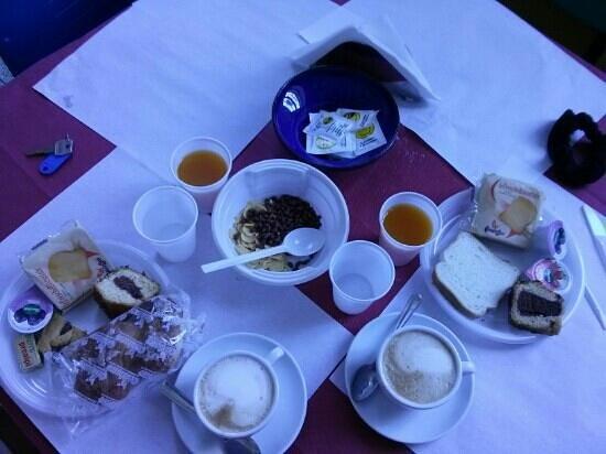 Litus Roma Hostel: colazione tipica