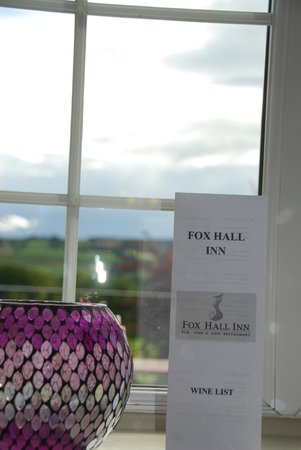 Fox Hall Inn: view from our window seating
