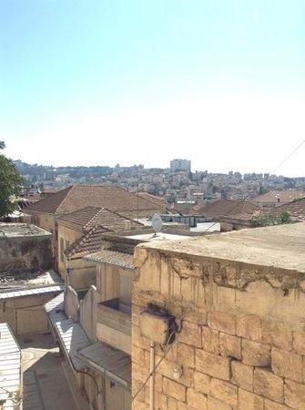 The Fauzi Azar Inn: vue depuis notre chambre du Fauzi Azar a Nazareth