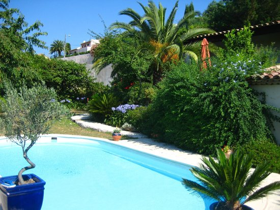 Villa Hestia: garden and swimmingpool