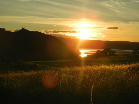 The Bothy: Sunset looking towards Castle Varrich