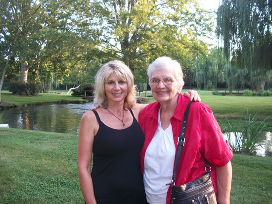 My mom and I at Farrell House Lodge.