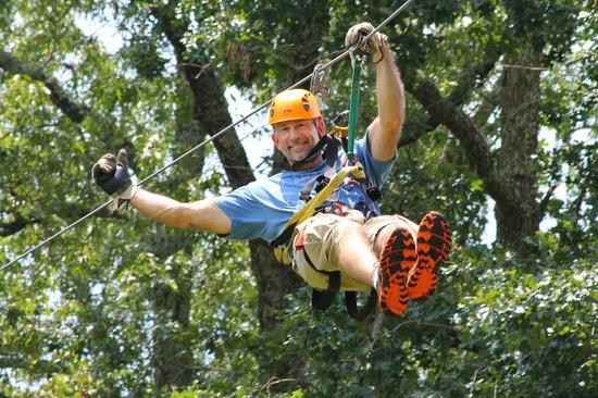 Chattooga Ridge Canopy Tours: having a good time