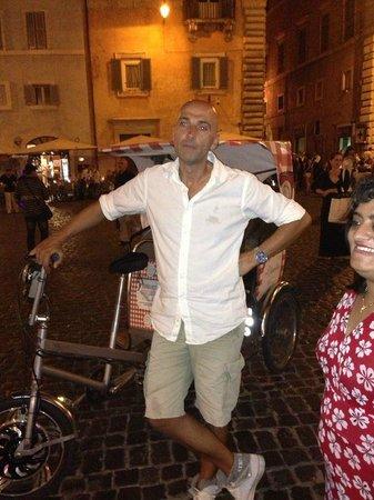 Hotel Traiano: bike rickshaw driver Alexander