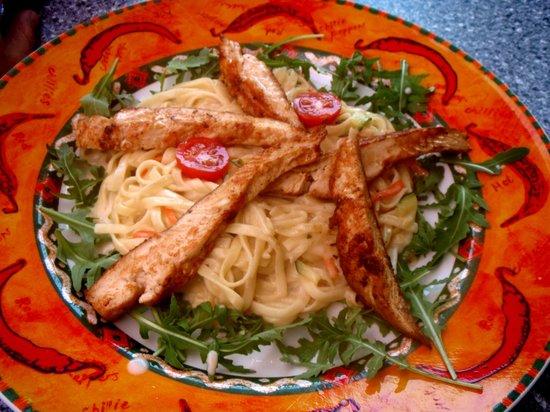 Zucchini Kaprun: Zucchini pasta