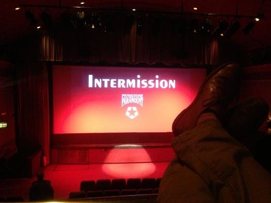 Penistone Paramount Cinema: interval from upstairs seating