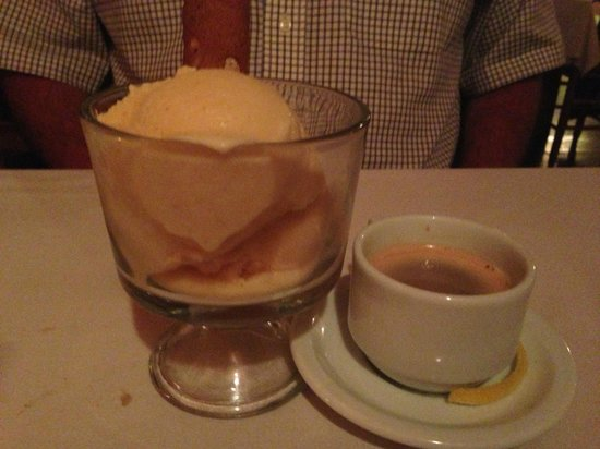 Burning Tree: sorbet and espresso