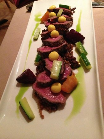 Backyard Bistro : Lamb with amazing little pearl drops