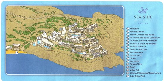 Plan of hotel Picture of Sea Side Resort Spa Agia Pelagia