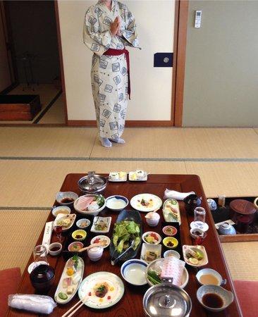 Ryokan Seiryu: Cena nipona en ryokan