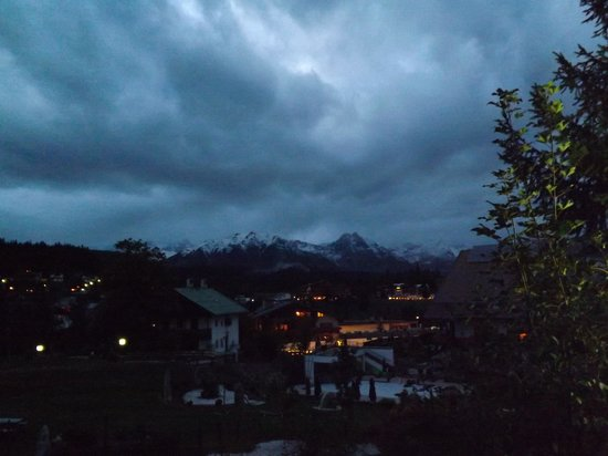 Hotel Bergland: seefeld on a lovely dark (if wet) night