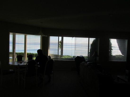 Ocean Sands Resort : View of the beach, water, islands and mountains in the background!
