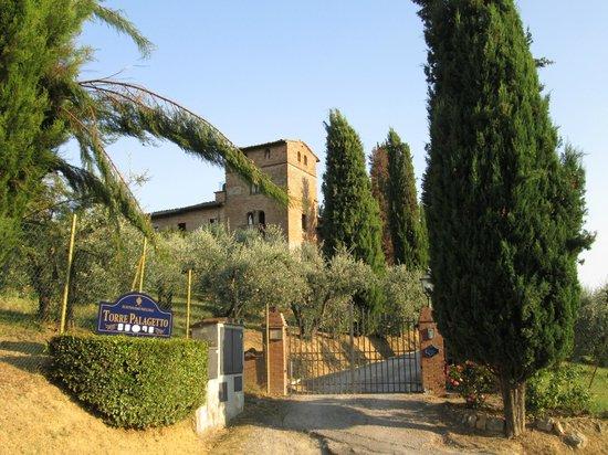 Villa Palagetto: Zufahrt