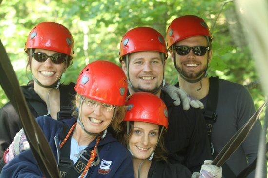 Navitat Canopy Adventures - Asheville Zipline : Having fun with the Honeymooners