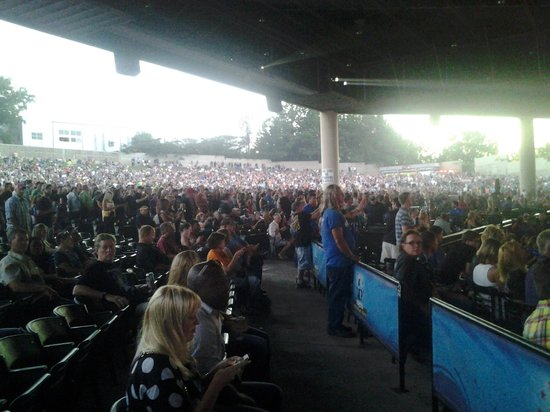 View Of The Gathering Crowd Picture Of Aarons Amphitheatre At