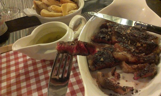Gil's Little Bistro : Medium rare... cooked outside, red inside!