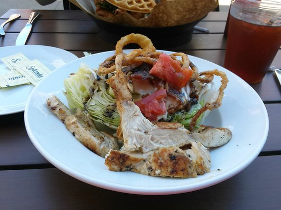 Stock and Barrel: The Wedge Salad with grilled chicken add-on