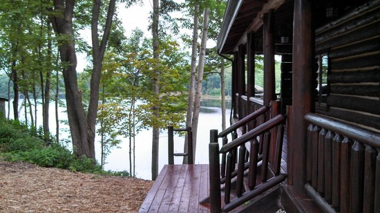 Sleeping Bear Resort : looking from lodge down to the lake.