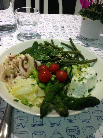Le Water Bar Colette: Assiette de legumes