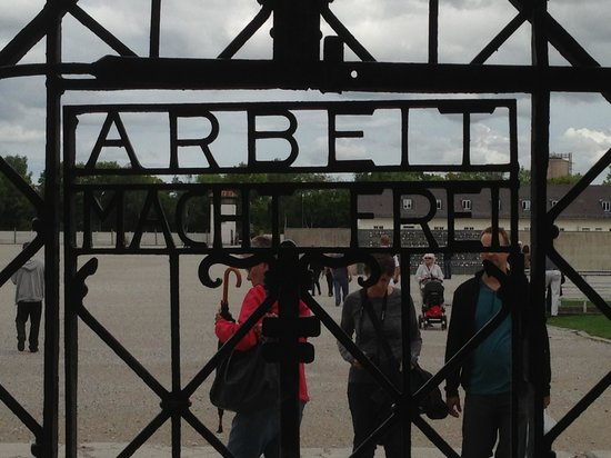 Munich Walk Tours: The Prototypical KZ-Camp gate.