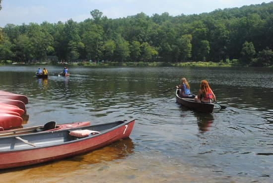 Mt. Gretna Lake & Beach: Canoes. $7 per half hour gives you plenty of time to explore the lake.