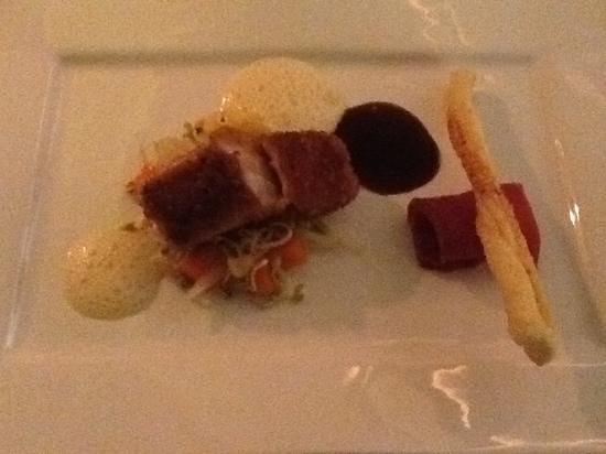 Hotel Restaurant Heckenrose: croustillant de poisson au serrano