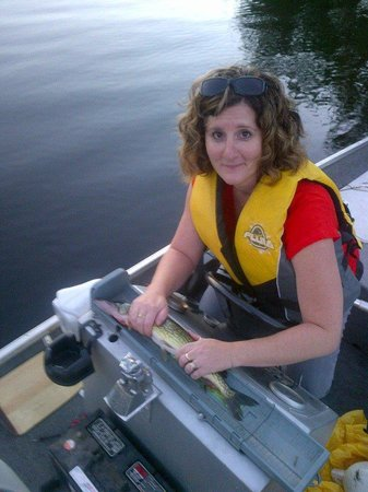 Cambra Sands: Daughter Tanya caught her first Pickerel