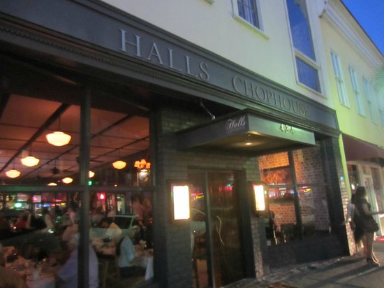 Halls Chophouse: front door