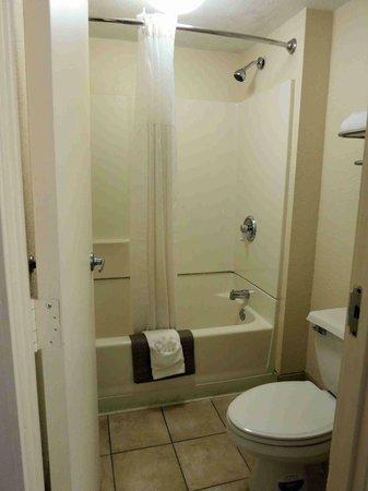 Quality Inn & Suites Airport: Room 114 Bath - high shower head