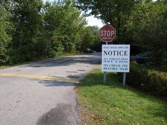 Bar Harbor Campground: Main Entrance