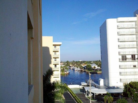 Wyndham Sea Gardens: view from Room 561 of inner coastal water way