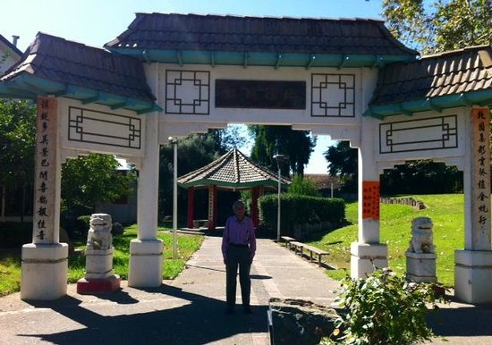 Marysville, CA: Entrance way to Bok Kai Temple at 1st/D Streets