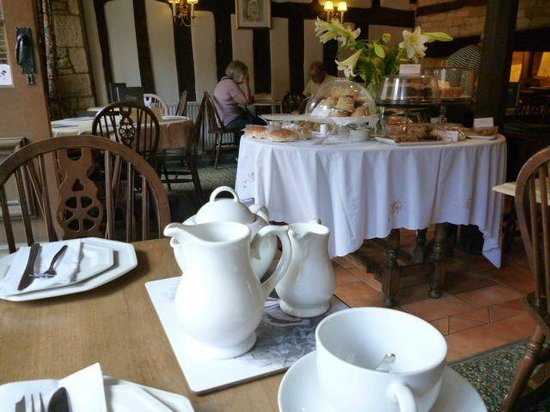 Badger's Hall tea room: Badger's Hall - Ready for tea