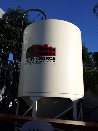 Fort George Brewery + Public House: Watch for this fermentation tank from the street.l