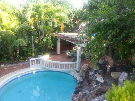 Green Gate Bed and Breakfast : view of pool from terrace