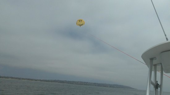 San Diego Parasail Adventures: Happy parasailing over San Diego!