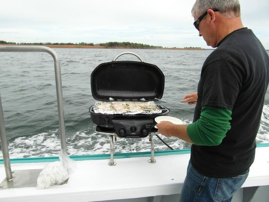 Tranquility Cove Adventures : Perry serving up the fish