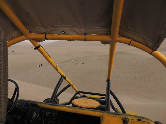 View from inside the dune buggy - Picture of Viajes Paracas