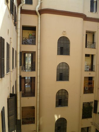 Hotel Alius: View from my window (the courtyard)