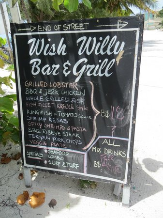 Wish Willy - Bar & Grill : Menu to check out!
