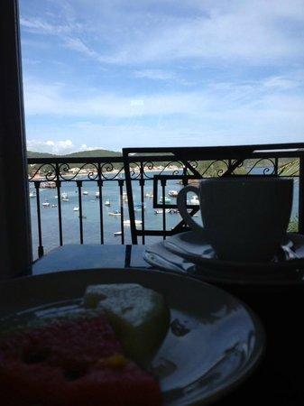Vila D'este: vista do café da manhã